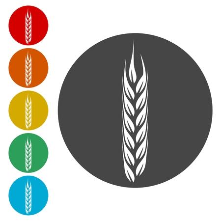 Wheat icon, Wheat ears icon