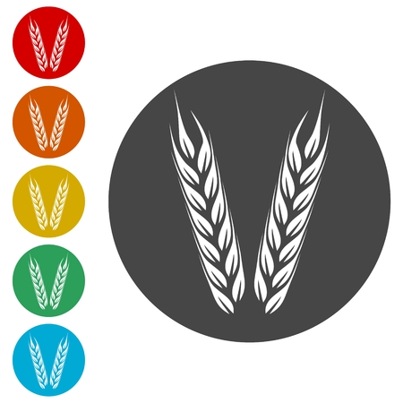 Wheat icon, Wheat ears icon