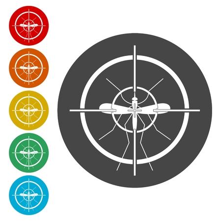 Mosquito target Stock Vector - 111850280