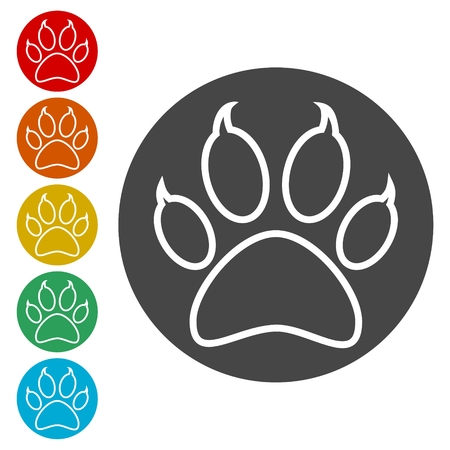 Paw Print Symbol Vettoriali