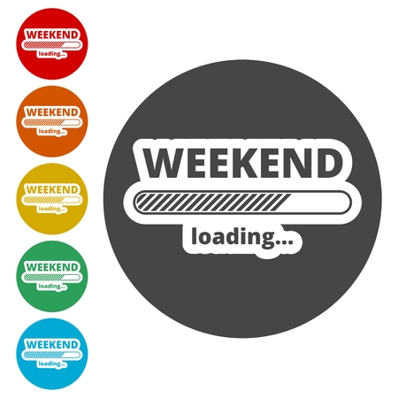 Loading Weekend, Weekend Loading Concept Иллюстрация