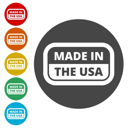 USA flag - Made in America Ilustrace