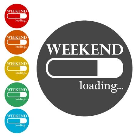 Loading Weekend, Weekend Loading Concept Archivio Fotografico - 112143026