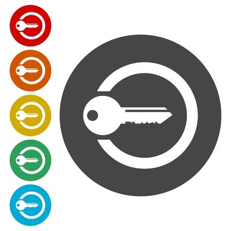 Login icon, Secure access button Banque d'images - 112202258