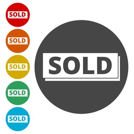 Sold sign Vettoriali