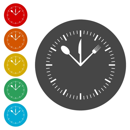 Tempo per il pranzo set di icone