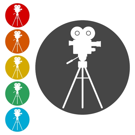 Cinema camera icon