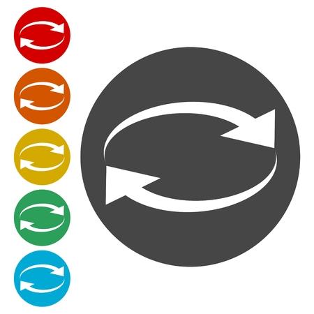 Exchange arrow icon, Reload vector icon