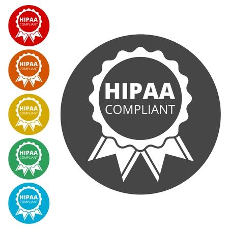HIPAA Compliance Icon Çizim