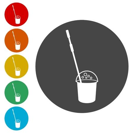 Conjunto de iconos de limpieza, icono de limpieza Ilustración de vector