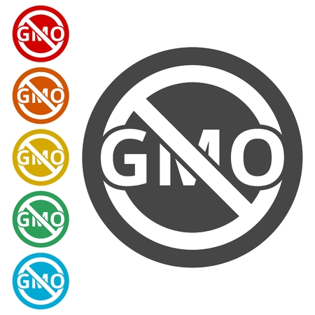 No GMO Sign - vector illustration