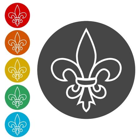 Fleur de lis icon, Fleur-de-lis sign 向量圖像