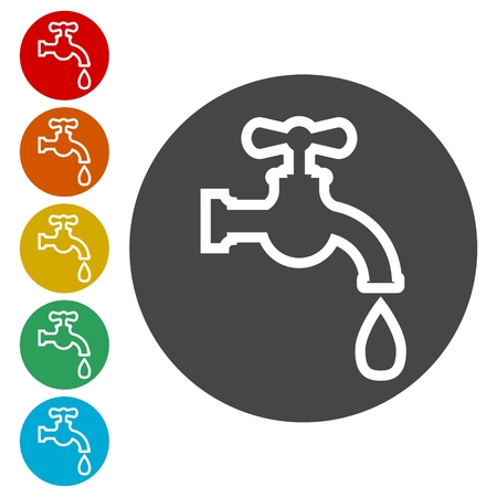 Faucet vector icon, Vector tap symbol Illustration