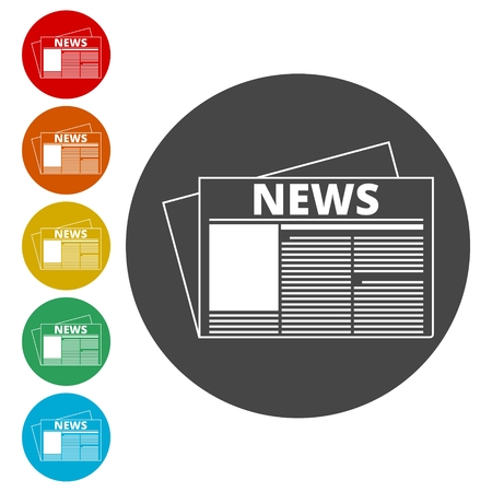 Newspaper icon, News icon Illustration