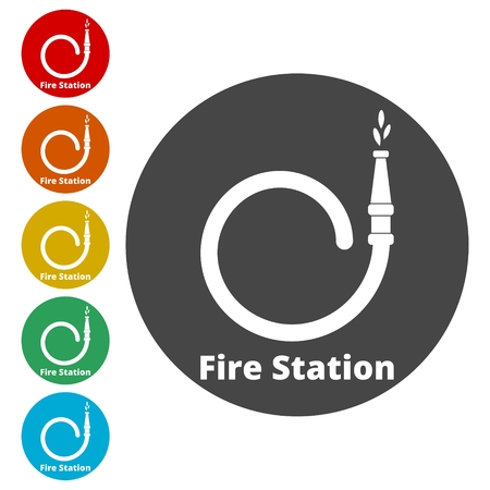 Fire station icon, Fire Service icons set