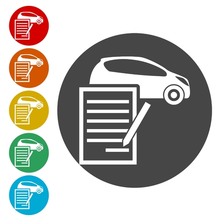 Car purchasing contract icon