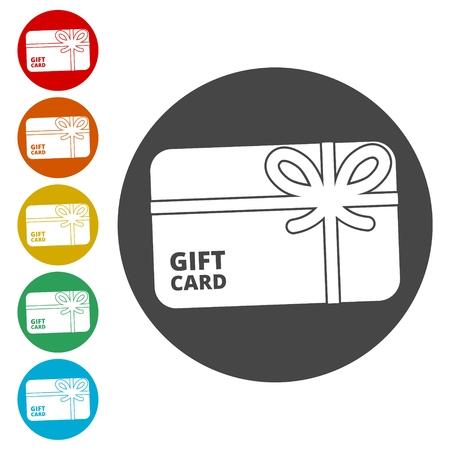 Shopping gift card icon, Gift card Icon