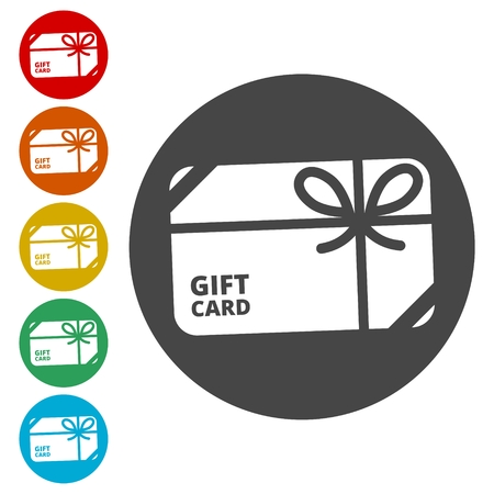 Shopping gift card icon, Gift card Icon
