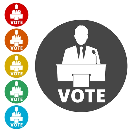 Voting concept, Vote concept icon Ilustracja