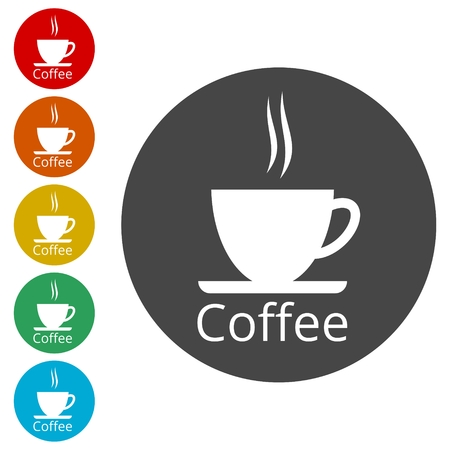 Coffee cup icon Illustration