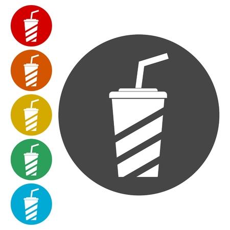 Soda Icon, Drink icon, Disposable Cup