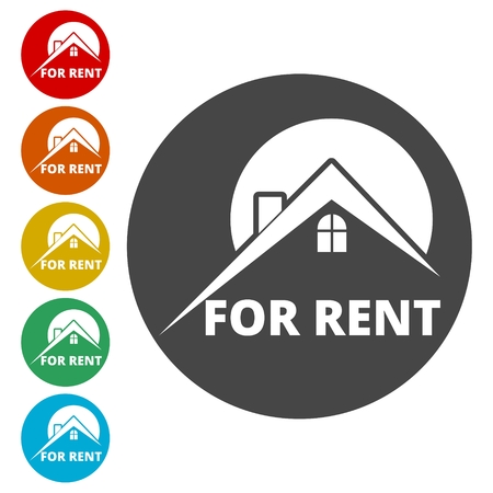 For Rent Sign, Vector icon