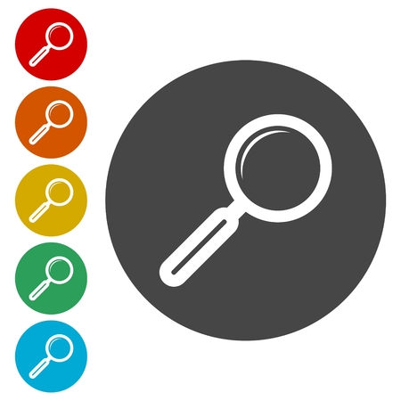 Search icon, Magnifying glass