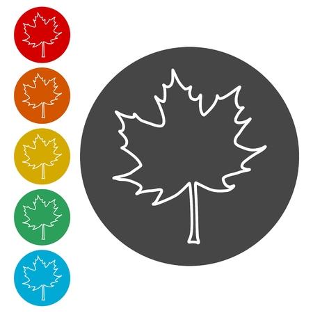 Vector Maple Leaf Icon  イラスト・ベクター素材