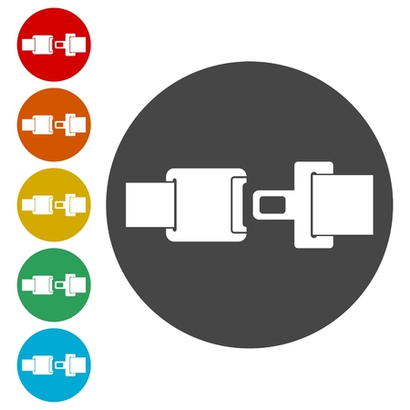 Seat Belt or Safety Belt Icon