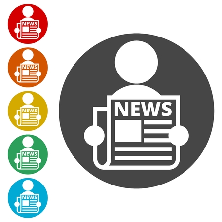 Read newspaper logo vector icon