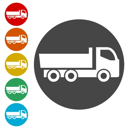 Simple truck icon, truck symbol set Illustration