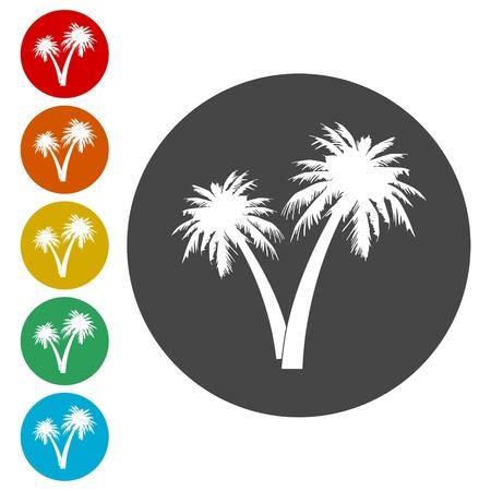 Palm Tree Silhouette icon