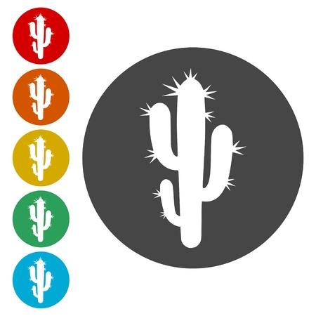 Cactus plant silhouette Иллюстрация