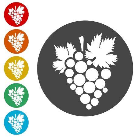 Grapes Icon Иллюстрация
