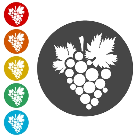 Grapes Icon Illustration