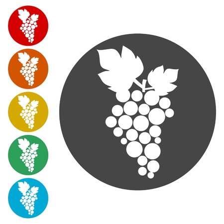Grapes Icon Illustration