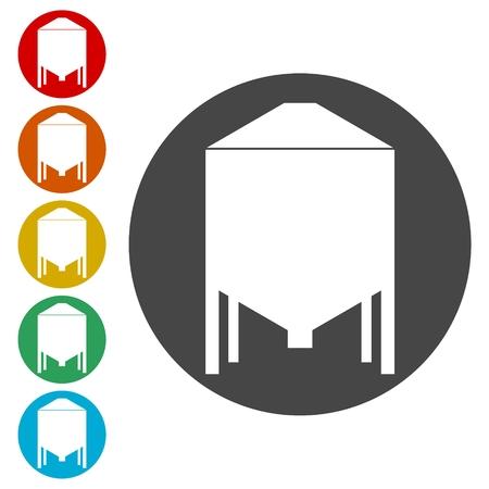 Silos storage icon 向量圖像