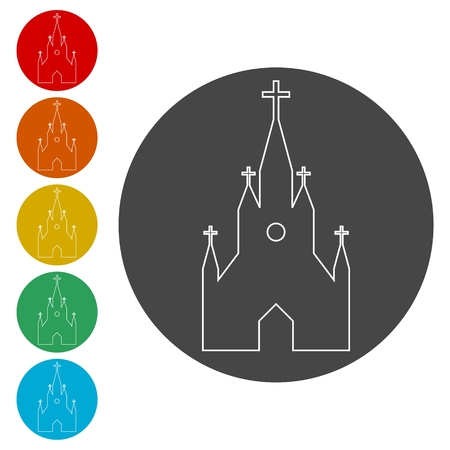 Church on white background - Illustration Stock Illustratie