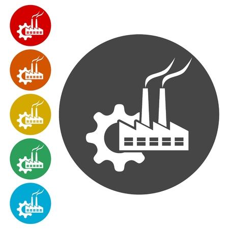 Factory icon Stock Vector - 113341786