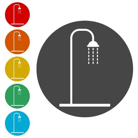 Shower icon, vector illustration