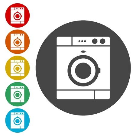 Washing machine icon Vektorgrafik