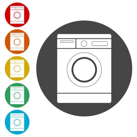 Waschmaschine-Symbol Vektorgrafik