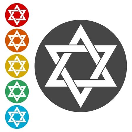 Star of David icon Vektorové ilustrace