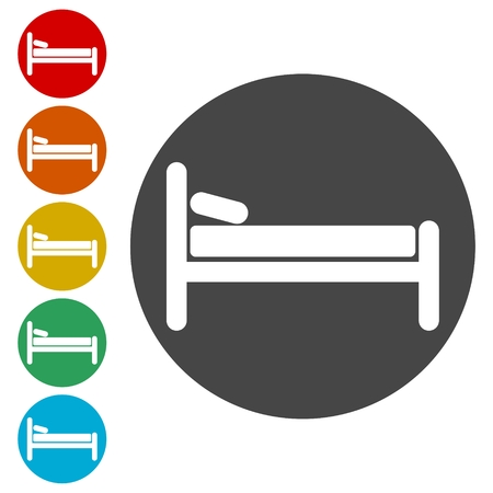 Hospital bed icon Illustration
