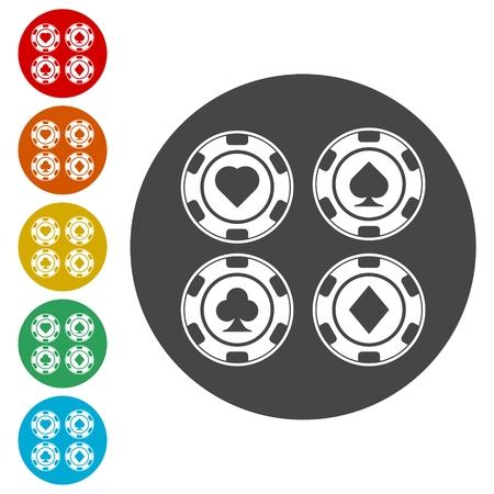Casino chip icon, Poker icon