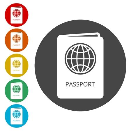 Passport icon - Illustration Illustration