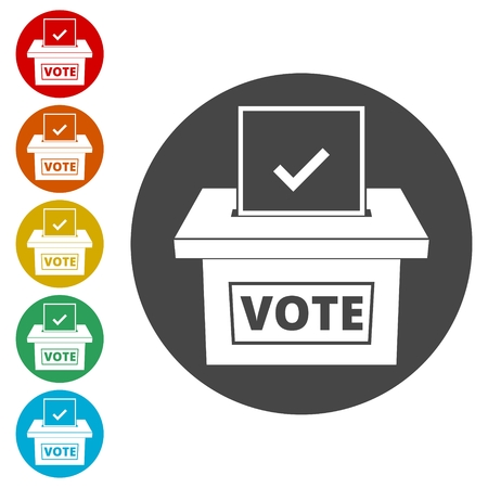 Voting concept, Vote concept icon, Flat style illustration of election day