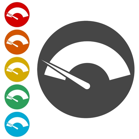 Speedometer or gauge icon