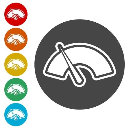 Meter icons, Symbols of speedometers, manometers