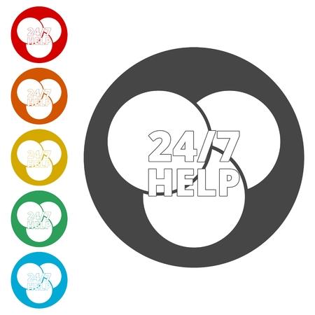 Help sing, Help icon Illusztráció
